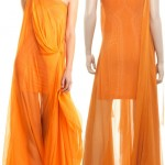 yellow see through maxi dress