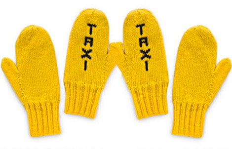 Yellow Taxi Mittens, The Perfect Gift For The Active Ones!
