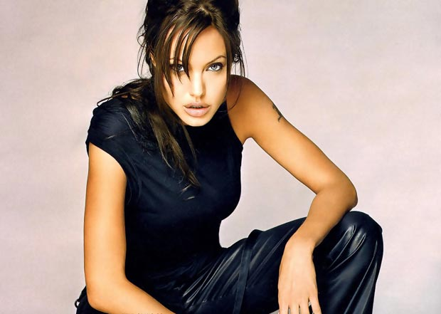 young Angelina Jolie circa Tomb Raider