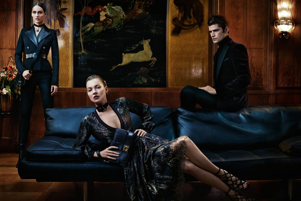younger Kate Moss Ferragamo Fall 2012 ad campaign with Karmen Pedaru
