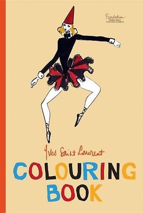 Yves Saint Laurent Colouring Book cover