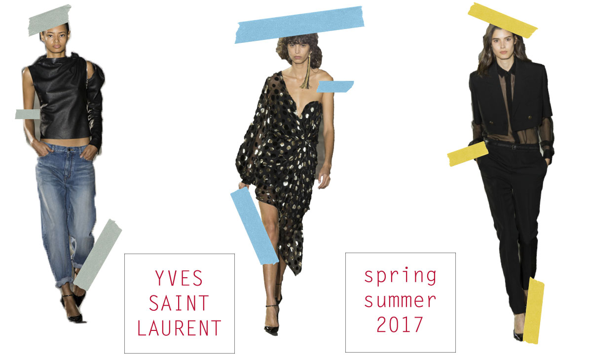 yves saint laurent ss 2017 collection
