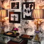 Zac Posen designed interior duplex NYC wallpaper