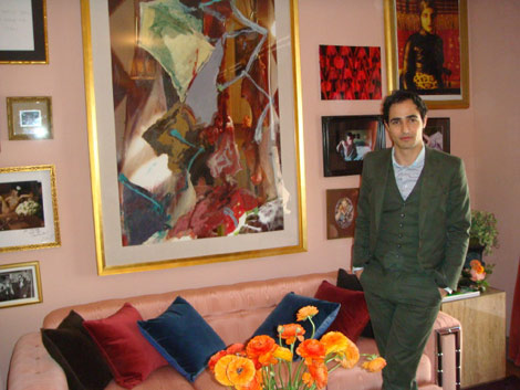 Zac Posen designed interior duplex NYC