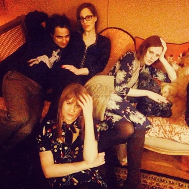 Zac Posen dinner guests Karen Elson Liz Goldwyn
