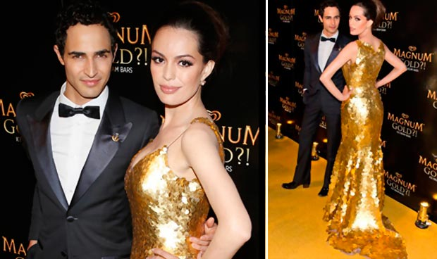 $1.5Million Gold Dress By Zac Posen For Ice Cream Commercial!