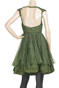 Zac Posen Nationale Pleated Dress Back