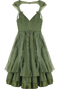 Zac Posen Nationale Pleated Dress