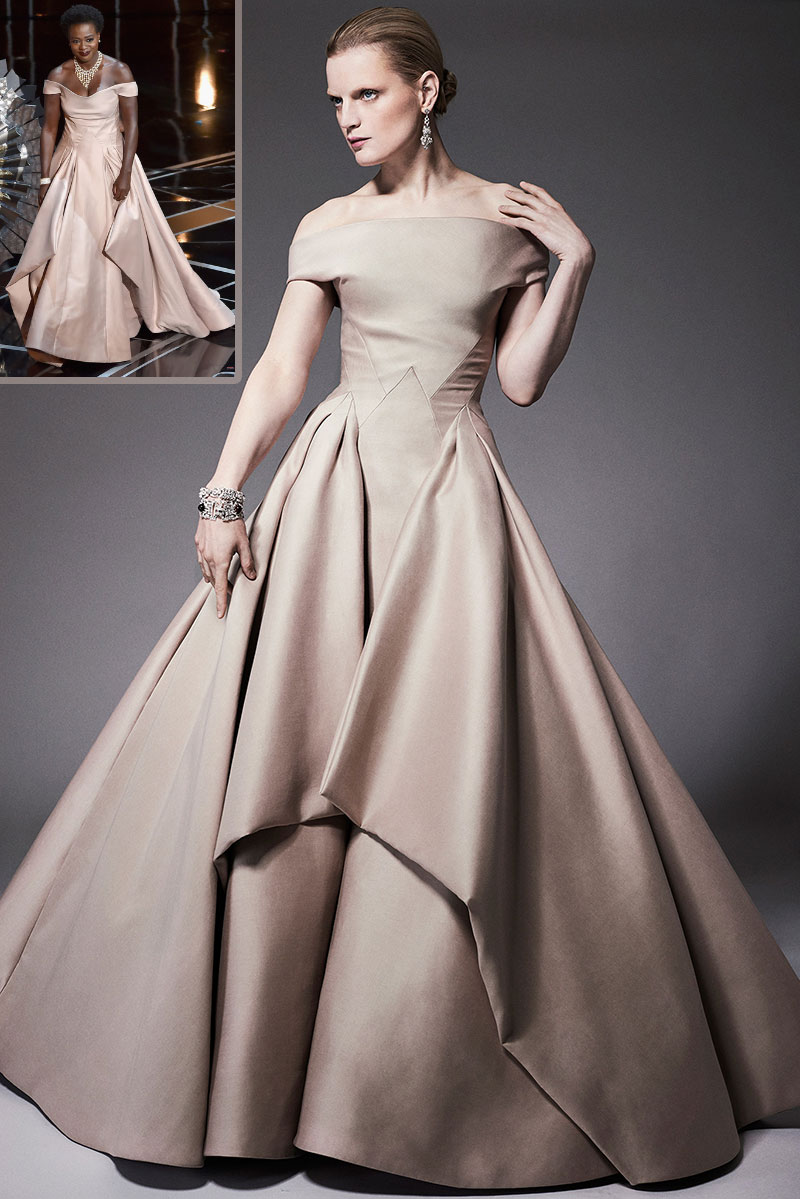 Zac Posen Resort 2015 dress as seen on Viola Davis 2015 Oscars