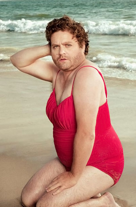 Zach Galifianakis VF Swimsuit calendar