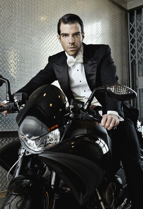 Zachary Quinto motorcycle