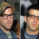 Zachary Quinto wearing eyeglasses