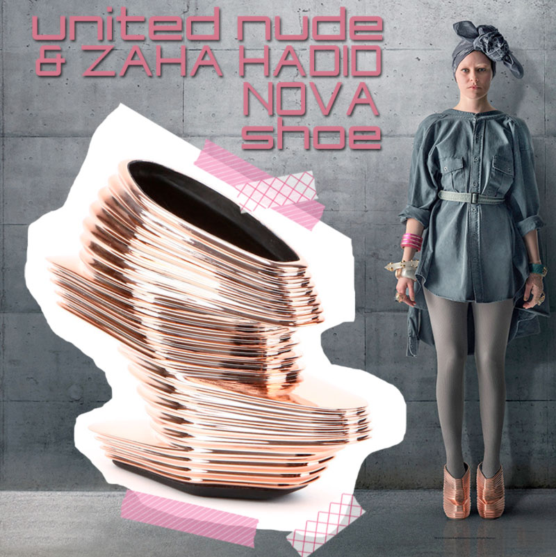Zaha Hadid United Nude Nova shoe Effie Trinket Hunger Games Mockingjay