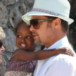 Zahara Jolie Pitt with Gerard Darel Dress