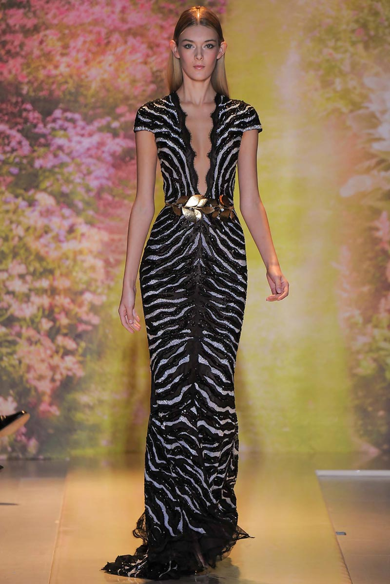 zebra sequins dress Zuhair Murad Spring 2014 Couture