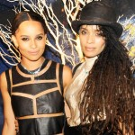 Zoe Kravitz jewelry launch with mother Lisa Bonet