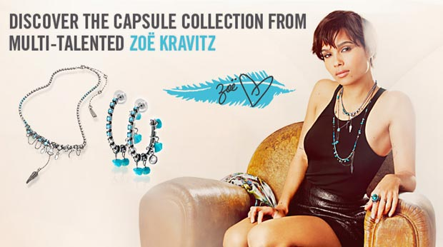 Zoe Kravitz Jewelry Swarovski Crystallized