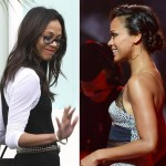 Zoe Saldana baby bump possibly