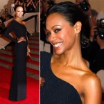 Zoe Saldana Blue Calvin Klein dress Met Gala 2010