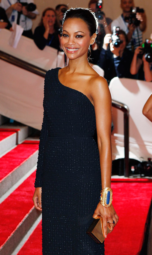 Zoe Saldana Blue Calvin Klein dress Met Gala 2010 3