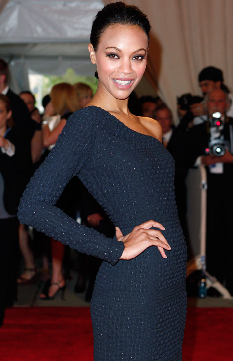 Zoe Saldana Blue dress Met Gala 2010