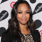 Zoe Saldana casual chic at Target event