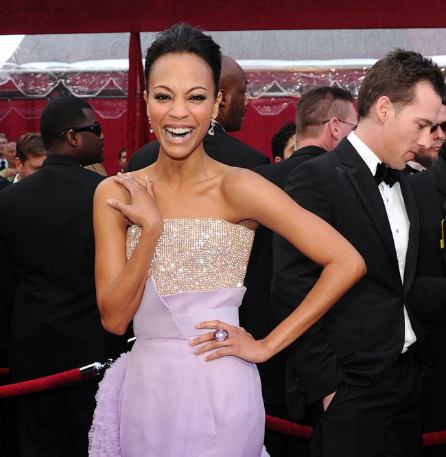 Zoe Saldana Givenchy dress 2010 Oscars 2
