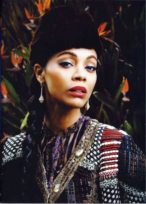 Zoe Saldana Harper s Bazaar