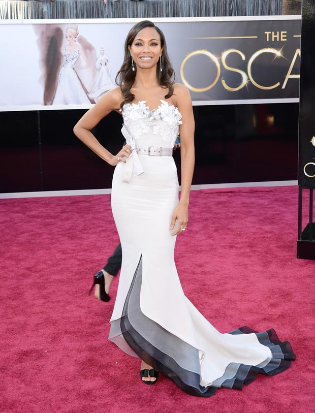 Zoe Saldana Mabille dress 2013 Oscars Red Carpet