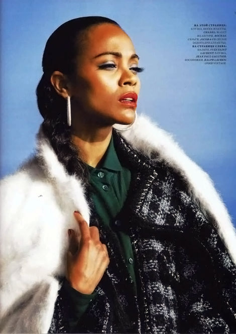 Zoe Saldana photo Harper s Russia