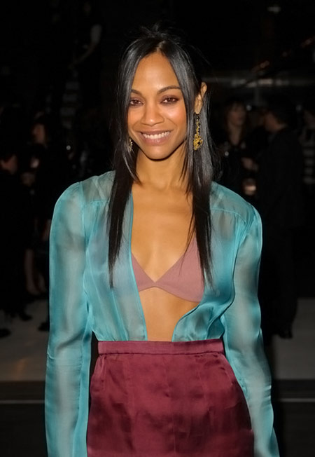Zoe Saldana Prada book launch