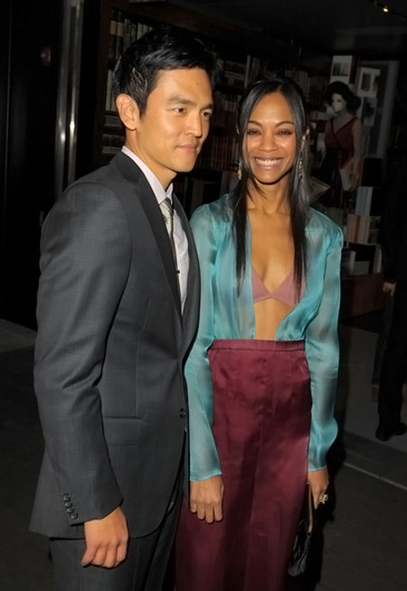 Zoe Saldana Prada book party