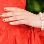 Zooey Deschanel 2013 Golden Globes nails jewelry