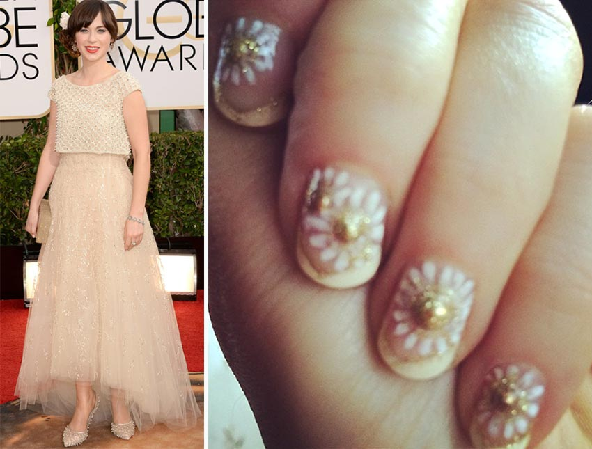 Zooey Deschanel nails Golden Globes 2014