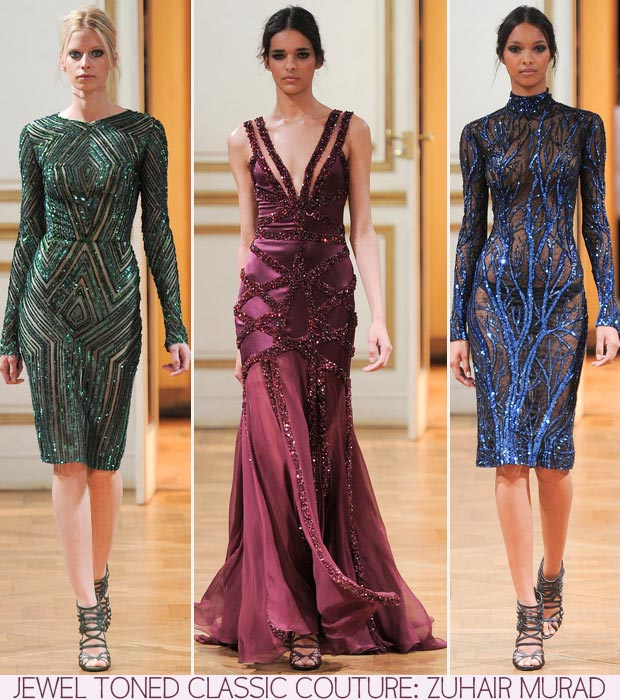 Zuhair Murad fall 2013 couture jewel dresses