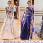 Zuhair Murad Fall 2013 Couture sheer embroidered dresses